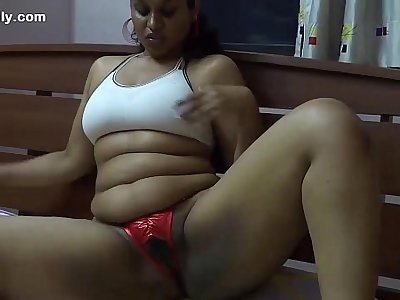 Lily Indian Babe Masturbating With Dildo